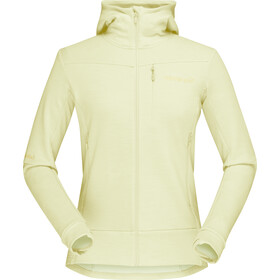 Norrøna Falketind Warmwool2 Stretch Zip Hood Damen sunny lime